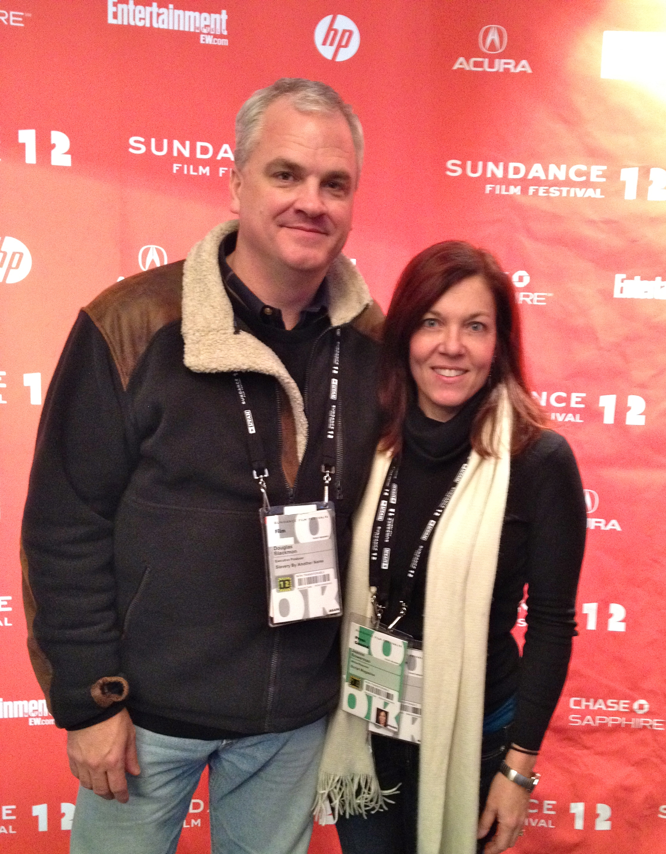Douglas and Jeanne at the Sundance Film Festival. Photo courtesy of Scriptmag