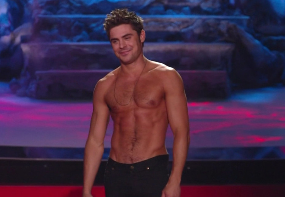 Zac Efron Wins Best Shirtless Performance at MTV Awards
