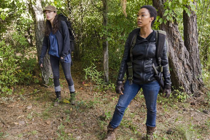 Sonequa Martin-Green as Sasha Williams, Christian Serratos as Rosita Espinosa- The Walking Dead _ Season 7, Episode 14 - Photo Credit: Gene Page/AMC